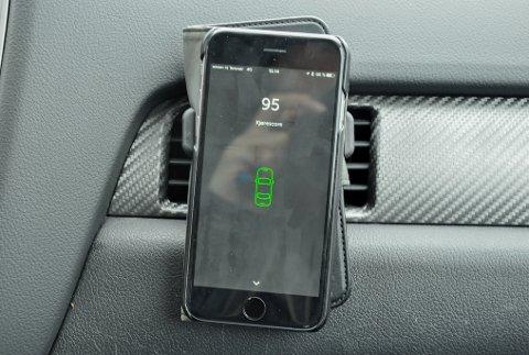 KJØRESCORE: Appen «Spinn» er en del av Sparebank 1 nye bilforsikring. Den måler hvor pent du kjører.