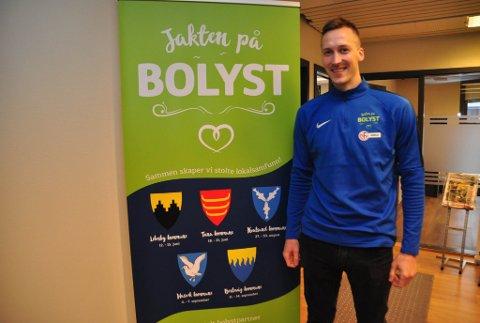 KLAR: Thomas Båtnes Braaten er klar til bolystuka i Lebesby 12. - 15. juni.