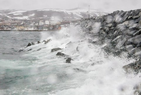 LITT FRISKT: Vindkastene blir å merkes noen steder i Finnmark.
