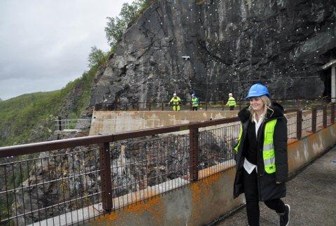 FØRSTE GANG: Olje- og energiminister Tina Bru (H) var tirsdag på Altademninga for første gang.