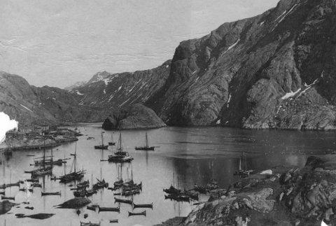 Nedre-været i Nusfjord. Bildet er fra tidlig 1900.