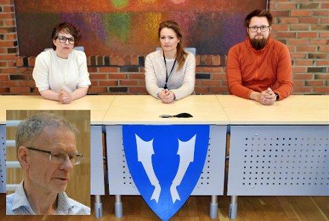 Kommunelegeteamet i Vestvågøy og smittevernoverlege Kai Brynjar Hagen i Bodø kommune (innfelt).
