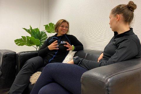Karina Abrahamsen avbildet i forbindelse med en diskusjon om trening.