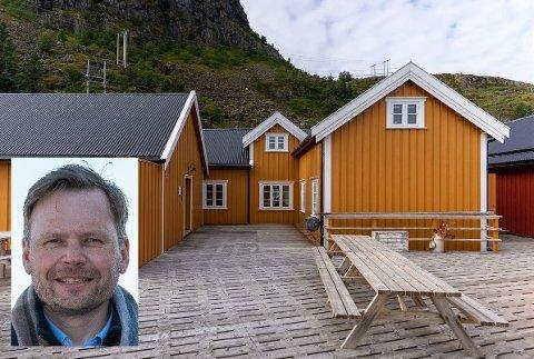 Lars Nyborg har fått oppgaven med å selge disse utleieenhetene på Tind.