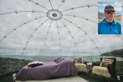 Daglig leder Christian Dramsdahl i Arctic sea to summits ønsker å sette opp igloer.