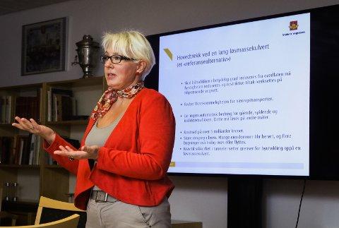 SJOKKDAGEN: Turid Stubø Johnsen redegjorde i Miljøløftet Moss 26. september 2017 om de krevende grunnforholdene og den høye prislappen for den planlagte riksvei 19.