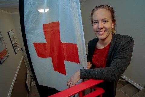 ILDSJEL: Anette Lande er operativ leder i Moss Røde Kors hjelpekorps og brenner for Røde Kors.