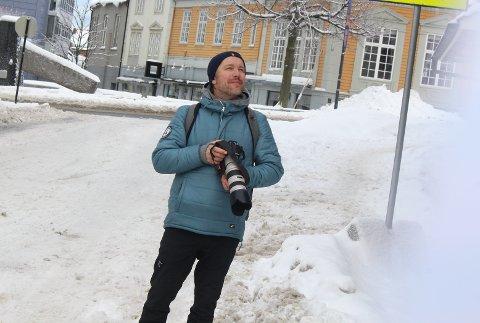 SÅ OPP: Torbjørn Ekelund fant Gunnar etter bare en dag med leting i Moss.