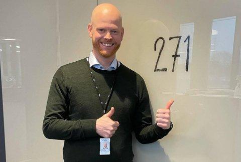 Leder for energitjenester i NTE Marked, Frode Walstad er godt fornøyd med antall søkere.