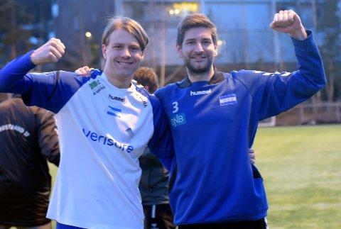 JAAA: Simon Hansen var den som fikk sette spikeren i kista, og Markus Woldsund var ikke mindre glad etter kampen.