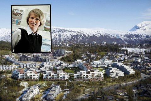 MEGLER-SJEF: Ruth Nordstrøm (innfelt), daglig leder for DNB Eiendomsmegling i Tromsø.