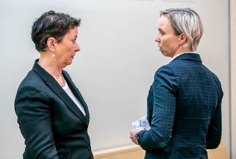 I RETTEN: Fornærmedes bistandsadvokat Ingunn Greve Tøllefsen (t.v.) og politiadvokat Trude Kvanli.