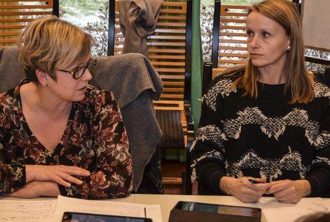 GIR SVAR: Varaordfører Lene Melbye (t.v.) og ordfører Guri Bråthen legger «strategiske prioriteringer» til grunn for hvordan Østre Toten skal sikre innbyggerne sine tjenester i framtida.Arkivbilde