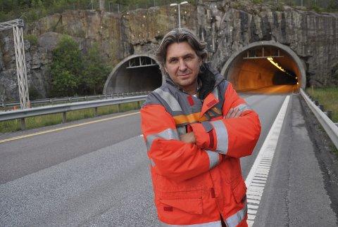 SPENT: Prosjektleder Thomas Kalleberg i Statens vegvesen er spent på hva som skjer med trafikkavviklingen rundt og gjennom Follotunnelen når et løp skal stenges i seks uker fra søndag kveld. ALLE FOTO: LARS NORSTED