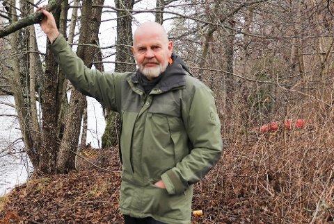PROTESTERER: Naturvernforbundet i Nordre Follo, ved leder Bjørn Ganger, minner om at naturreservater har det strengeste vern og ser behov for folkeopplysning om hva det innebærer.