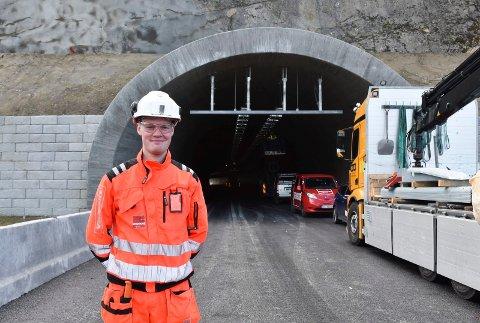 TUNNEL-LEDER: Håkon Grini fra Veldre har vært driftsleder for vann og frostsikring i Skarpsno-tunnelen det siste året.