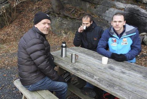Avgjørende: Per Evensen, Glen Pedersen og Daniel Sønstebø forteller at for dem er Aktiv på like vilkår helt avgjørende i kampen mot tilbakefall til rushelvete.