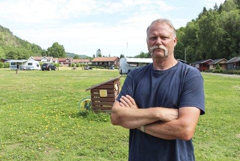 HOLDER ORDEN: Campingdriver Arnstein Mathisen.