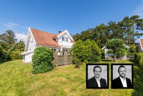 KUPPET: Dette er en av boligene i Sandefjord som ble solgt før den ordinære visningen i år. Nå vil Didrik Schou og Paal Hegdahl i Eie Eiendomsmegling at interessenter skal melde seg på visning for å unngå kupping av hus.