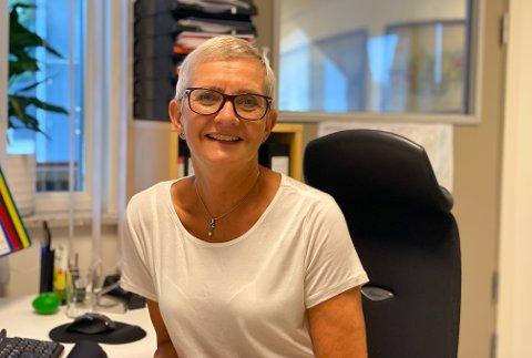 KJEMPEBRA: Vestsiden-rektoren, Tone Smemo Stølen ser fram til en tilnærmet skolehverdag.