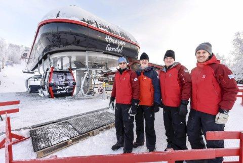 Hemavan Alpints gondolheis til 75 millioner ble åpnet i november 2017. Arkivfoto fra åpningen: Øyvind Bratt