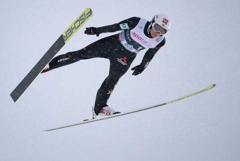 Robin Pedersen har lite erfaring med skiflygning, men hoppet 220 meter i en av prøveomgangene.