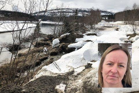 Bydriftssjef Hanne Alvsing leder en avdeling som er så blakk at de ikke har råd til å gjennomføre en lovet geoteknisk undersøkelse av rasområdet som ødela Svartisdalveien i vinter.