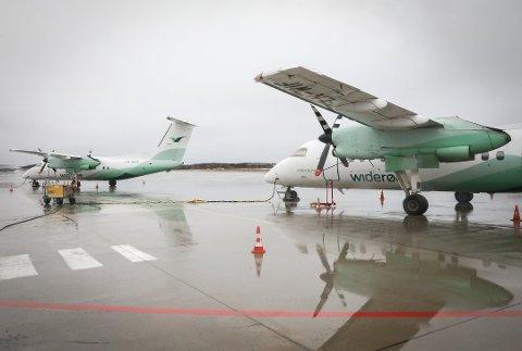 Tøffe tider: Flytrafikken er fortsatt på et minimum, også på Helgeland.