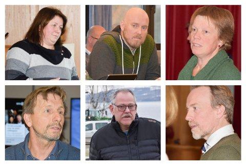 VIL HA MØTE: Seks politiske partier i Ringsaker vil at Sirkula-sjef Grethe Olsbye møter opp i Ringsaker for å gi svar på spørsmål politikerne lurer på. vedrørende den nye søppelordningen. Fra venstre: Trude Hustad (Sp), Odd-Amund Lundberg (Sp), Kjersti Røhnebæk (Sp), Helge Vestheim (Pp), Lars Svendstad (Frp) og Kai Ove Berg (H).
