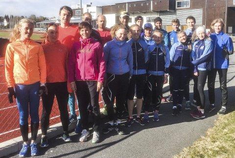 RFIK stiller to lag i Holmenkollstafetten: Noen av de lokale løperne på siste trening før lørdagens opptreden i Oslo-gatene. Leserfoto