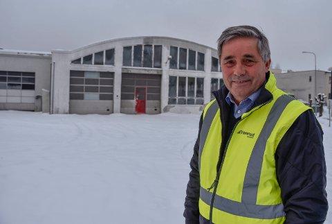 Skal rive: -  Vi begynner å rive i midten av februar for å gjøre klar området for Byporten-prosjektet, opplyser Haakon Tronrud.