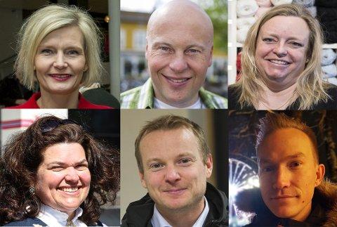 NYTT ÅR, NYE MULIGHETER: Cecilie Laeskogen, Jonas Rønning, Gry Johannessen, Kristin Krogvold Eriksen, Martin Boork og Morten Kleven er seks av 19 lokale navn som har oppsummert sitt 2018.