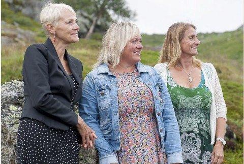 TRIO:  «Fjøllmannjentun» holder adventskonsert  Austbygde. Fra venstre Anne Svånaug Blengsdalen, Gøril Ramo Håve og Inger Lien.
