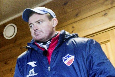 SKUFFET: Blaker-trener Fredrik Larsen mener laget hans burde tatt bedre vare på 2-1-ledelsen sin.