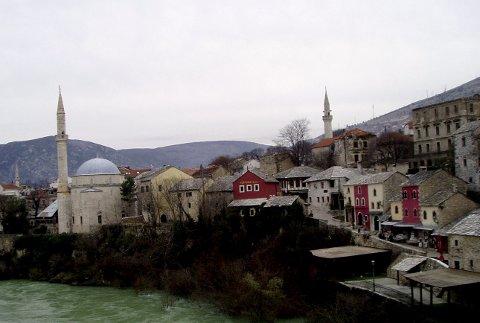 Bildet er tatt i Mostar i Bosnia-Hercegovina.