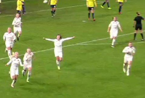 1-0: Anja Sønstevold sendte LSK Kvinner opp i ledelsen.