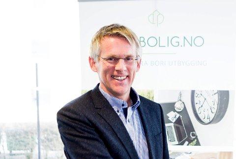 NY BANK: Administrerende direktør i BORI BBL, Johnny Brevik, presenterer en helt ny bank.