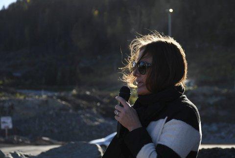 Nye bedrifter inn: Stine Søsveen fra Hanekleiva Utvikling, kunne presentere nye navn på vei inn. FOTO: INGUNN HÅKESTAD BRÅTHEN