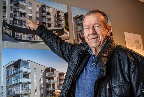 VALGET: Odd Gustavsen (73) og kona Tove (70) har bestemt seg: Denne leiligheten i tredje etasje blir deres nye hjem sent på høsten neste år.