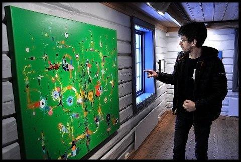 Hovedverk: «Grass II» er Fredrikstad-kunstneren Tor-Magnus Lundebys hovedverk under utstillingen på Soli Brug.