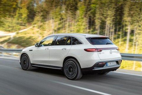 EQC følger i hjulsporene til Tesla Model X, Jaguar I-Pace og Audi e-tron når den kommer til Norge i sommer.