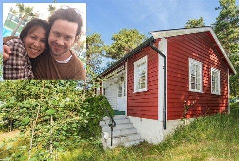 GIR BORT HYTTA: Hytta til Lisa og Vidar Fineide gis bort.