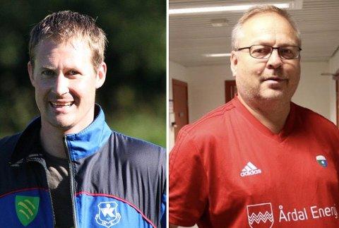 TVILAR: Jarle Christensen og Geir Kjetil Øvstetun er uroa for den komande fotballsesongen.