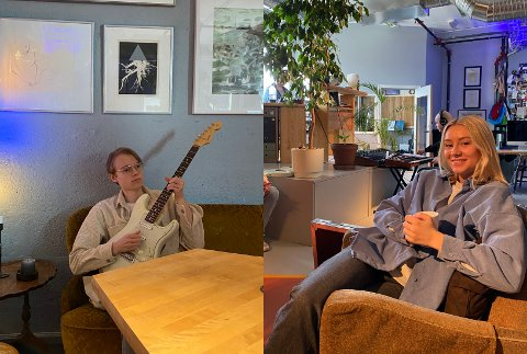 NY LÅT: Den nyaste låta Gunn Marit Kvåle har gitt ut har broren Gjest Kvåle skrive. Bileta er frå innspelinga i studio i Oslo.