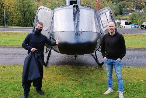 MØTTE FORBILDE: Alexander Jensen møtte forbilde Tom Cruise.
