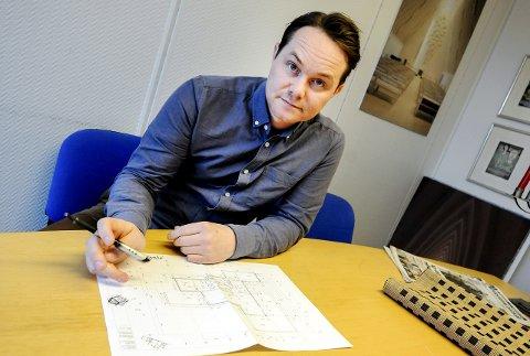 Fikk oppdraget: Sivilarkitekt Arild Sannes har fått flere slike henvendelser i det siste, hvor kunden ønsker å utvide på denne måten.