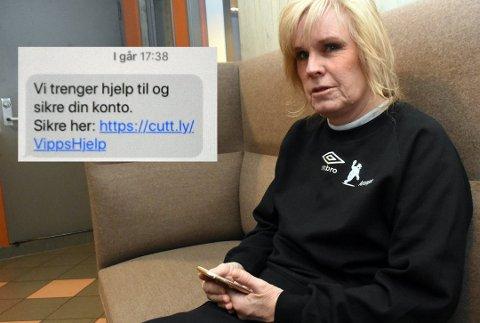 VIPPS-SVINDEL: Ann Beathe Rinden fra Kapp ble svindlet via Vipps, da hun gikk inn på en lenke som så ut til å komme fra betalingstjenesten. Foto: Per Skjønberg