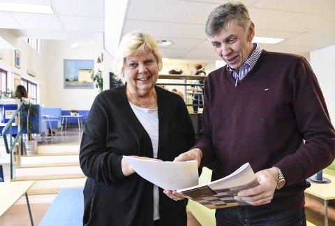 I læra: Avdelingslederne Liv Grete Bakken og Andres Eika ser at nesten alle elevene deres i forrige skoleår har fått læreplass.