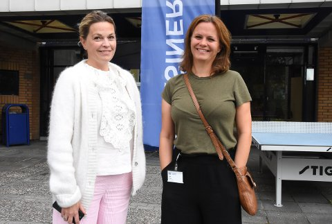 KLAR FOR ANDRE DOSE: Camilla Rønjom og Gjøril Brekke så for seg en litt utrygg skolestart med bare én vaksinedose i kroppen. Så kom kontrabeskjeden.
