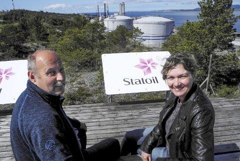 Utvikling: Daglig leder Arve Goa og Karin Torset i Tjeldbergodden Utvikling jobber med å skape nye arbeidsplasser basert på Heidrun-gass.